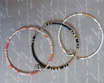 Sale~Seed Bead Memory Wire Bracelets