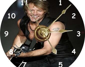 Jon Bon Jovi cd clock can be personalised