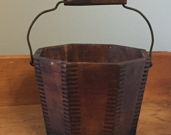Antique Wooden Bucket
