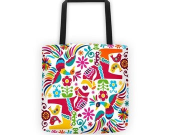 Mexican Otomi Pattern Tote Bag