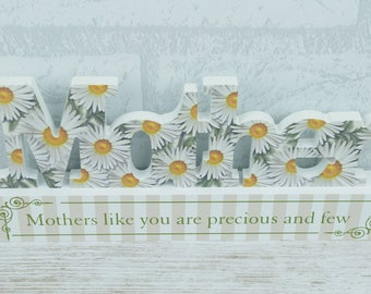 Mother Plaque Freestanding Daisy Design Cut Out Mothers Day  SG1624