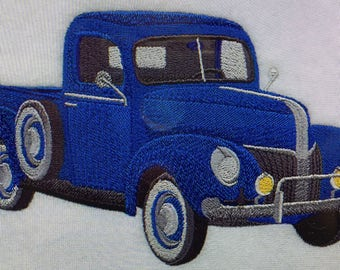 """Embroidered """"Classic Car 1940's Ford Truck"""" Shirt"""