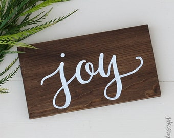 Rustic Joy Sign / Rustic Christmas Sign / Winter Decor Wood Sign / Christmas Mantle Decoration / Holiday Wood Decor