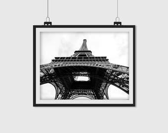 Eiffel Tower Photo, Black and White, Paris Print, Paris Photo, Paris Wall Art, Black and White Photo, 5x7, 8x10, 8x12, 11x14, 12x18, 16x20