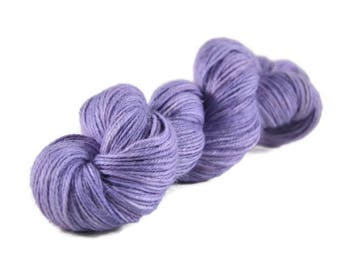 Alpaca Silk Yarn, Sport weight yarn, alpaca yarn, silk yarn, sport weight alpaca yarn, hand dyed yarn, purple, lavender - Moonrise