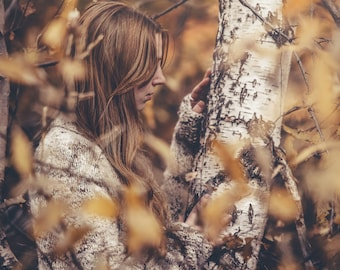 Postcard art photography - The Birch's Touch