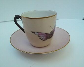 Haviland Limoges handpainted Haviland demitasse cup and saucer