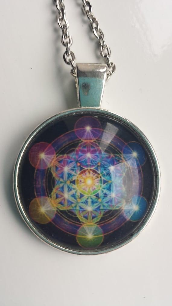 Metatron 39 s cube tibetan silver chain pendant necklace for Metatron s cube jewelry