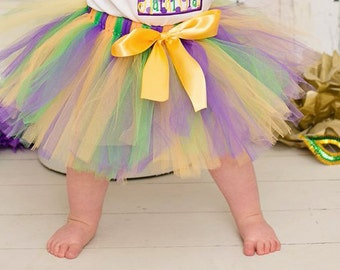 Purple, Green, and Gold Tutu - Mardi Gras Tutu - Tutu - Ballet - Birthday Tutu - Purple - Green - Gold - Jester - New Orleans