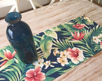 TROPICAL PALM & FLORAL Table Runner