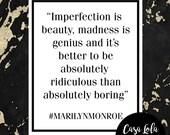 Marilyn Monroe Quote Prin...