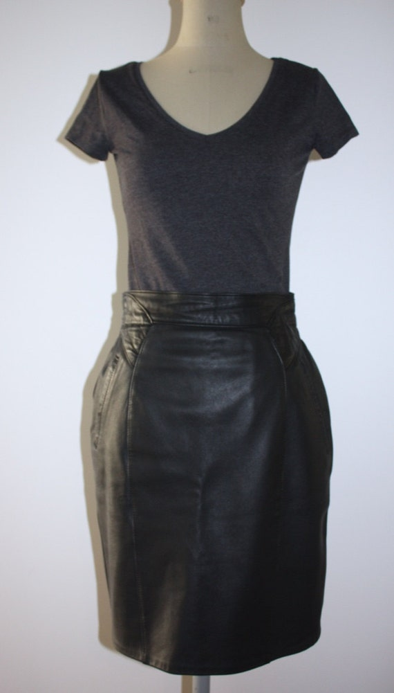 vintage leather skirt by onlyuzed on etsy