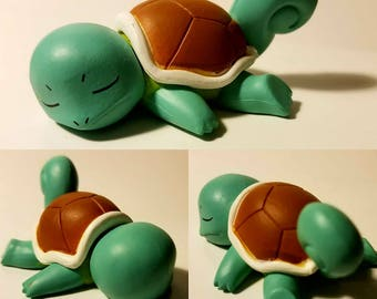 Sleeping Squirtle Poke'rarium! Pokemon Pokeball Terrarium! Custom made to order, 4in