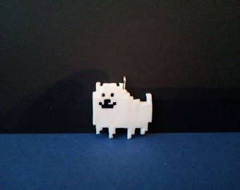 Undertale - Annoying dog - Polymer clay - Charm - Necklace - Handmade - (Inspired)