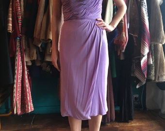 1950's beaded liliac gown size 8 goddess dress