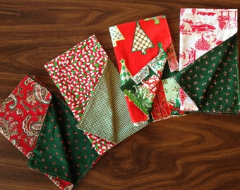 Whimsical, double-sided holiday napkins