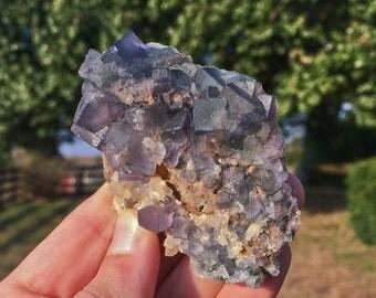Beautiful Multi-Color Fluorite from the Okorusu Mine in Otjiwarongo, Karibib, Namibia 12C