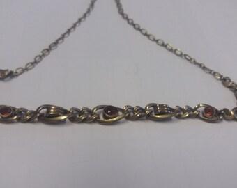 Vintage Arastine Necklace - Italian 50s 60s - Chic Kitsch Boho Piece - Amber Style