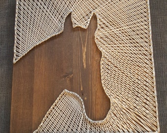 Rustic Horse String Art