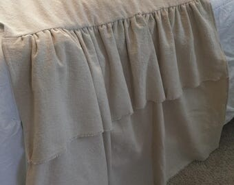 Drop cloth or White Bed Scarf