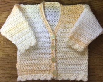 PDF Instant Download Crochet Cardigan Pattern in DK. Sizes Birth to 6 years (1006)