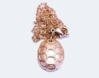 Turtle Shell Necklace 18K Rosegold - University of Maryland
