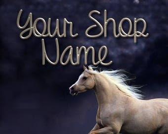 Horse Banner Set, Shop Banner Set, Custom Banner, Shop Banner, Graphic Design, Banner Design, Cover Photo, Premade Banner