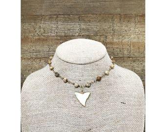 Chesnut Sharktooth Necklace