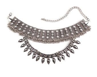 Silver Collar Choker
