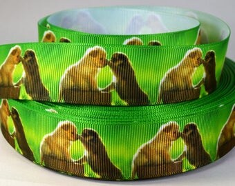 """1"""" Puppy Dogs - Grosgrain Printed  Ribbon"""