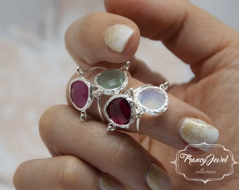 Fuchsia ring, romantic ring, silver ring, fuchsia crystal, unique ring, handmade ring, silver, made in Italy, not tarnish jewelry, for her