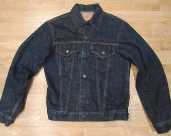 Vintage Levis Big E jacket | 60s Levis jacket | 1960s Levis jacket | 1960s denim jacket | Big E Levis | Size 38
