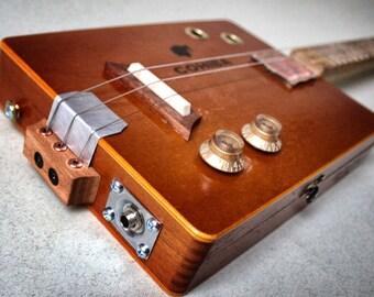 "Cigarbox guitar with original ""Ali Zahedi flat Puppis pickup"""