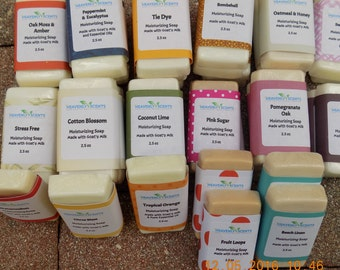 Heavenly Scent Hand Made Moisturizing SOAP~ Made with Goat's Milk~ 2.5 Oz. Bar~ Choice Which Ones You Prefer~Gifts Under 10