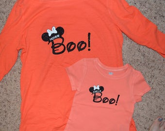 BABY/CHILD Disney Halloween Boo Shirt, Mickey's Not So Scary Halloween, Magic Kingdom, Trick or Treat, Costume, Epcot