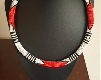 African Jewelry/ Zulu Jewelry / Hand Crafted Necklace