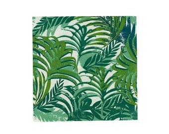 Tropical Leaf Napkins | Party Napkins | Green Tropical Party Decor | Summer Party | Tropical Tableware