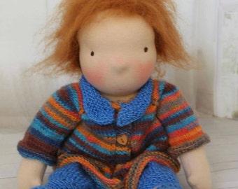 Waldorf style baby doll, Waldorf doll, steiner doll, cloth doll, baby doll, natural fiber doll,  Annie