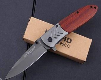 Pocket FOX 9 cm handle steel blade folding knife wood Outdoor 11.5 cm