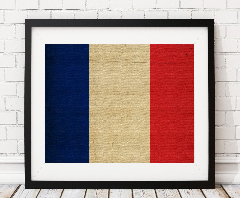 France Flag Art, France Flag Print, French Flag Poster, Country ...