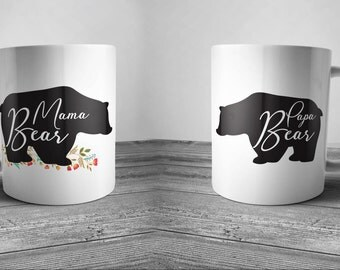 pappa bear, bear mug, coffee mug, coffee mugs with sayings, coffee mugs handmade, coffee mug set,wedding gifts for parents,anniversary gifts