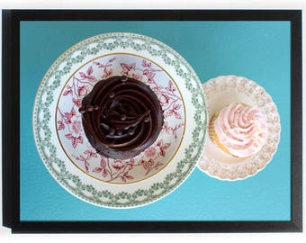 Cupcakes Magnet Board - 3 sizes, Framed Magnetic Bulletin Boards