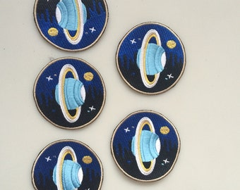 1piece 3.2inches,Embroidered Planet Patches,Sewing On Patches,Applique For Garment,Hats,Sweater,Backpack Sewn