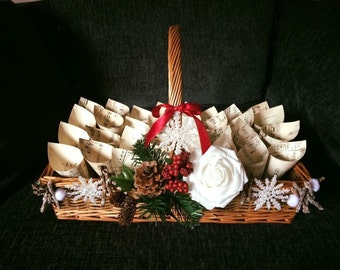 Christmas basket with treat cones