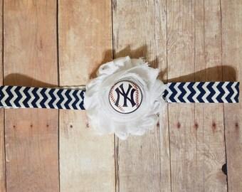 new york yankee headband-New York yankees baby-yankees baby-Yankees newborn/yankee for newborn-yankees baby gift/girl yankees/yankees girl