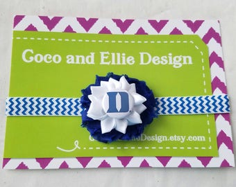 duke university headband-duke headband-duke for girl-newborn duke-duke baby girl shower gift-baby duke take home for baby/duke newborn