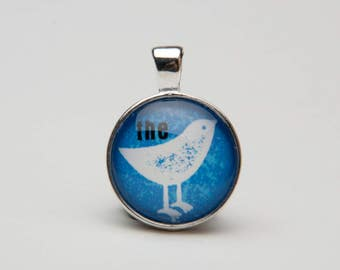 The Bird Pendant, Necklace, Key Chain, Creative Graphic Design, Party Favors, Gifts