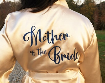 Bridesmaid Robes, Bride Robe, Bridal Robes, Bridal Shower Gift, Personalized Robes, Maid of Honor, Wedding Gift, Mother of the Bride Gift