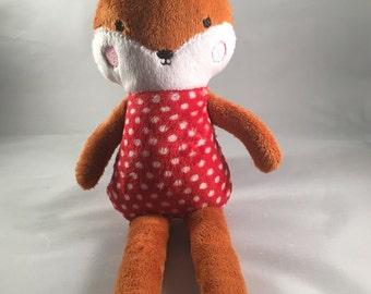 Fox soft toy, plushie, soft toy, fox toy, baby toy, animal, wildlife toy, childs toy