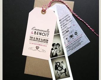 faire part etiquette amricaine photomaton en diy pour votre mariage - Faire Part Photomaton Mariage